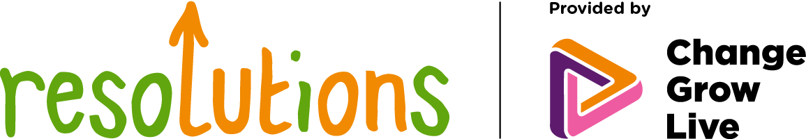 Resolutions logo in colour