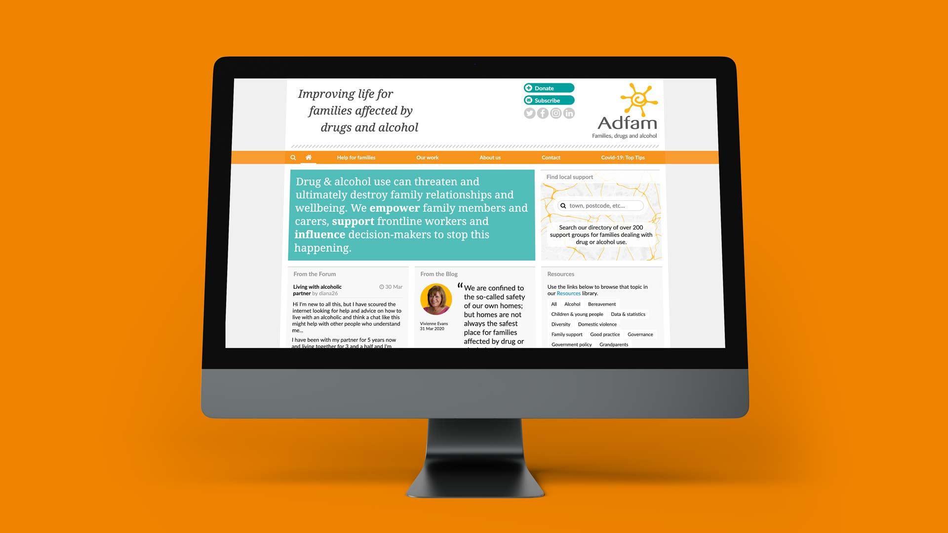Adfam website