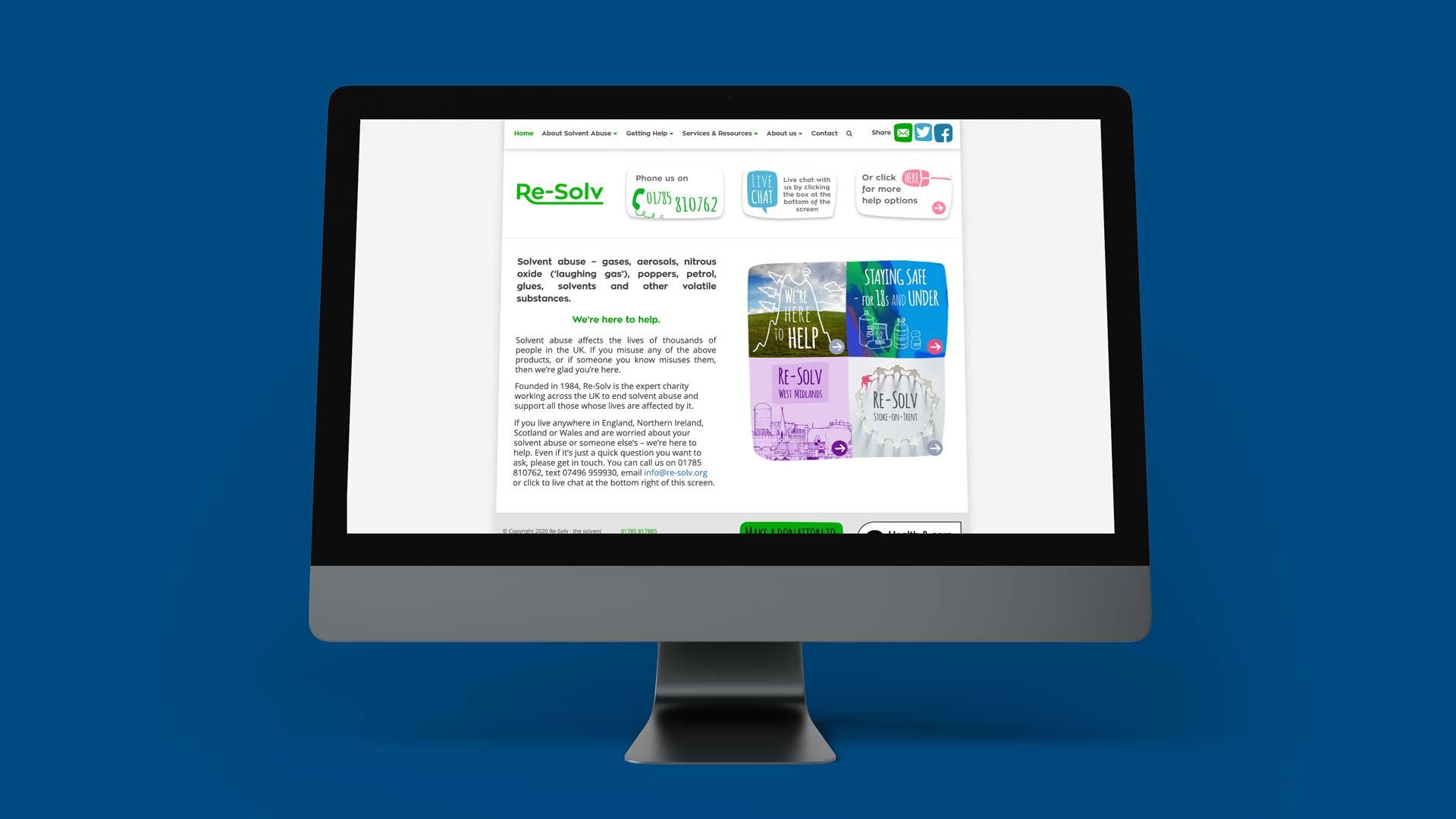 Re-Solv website