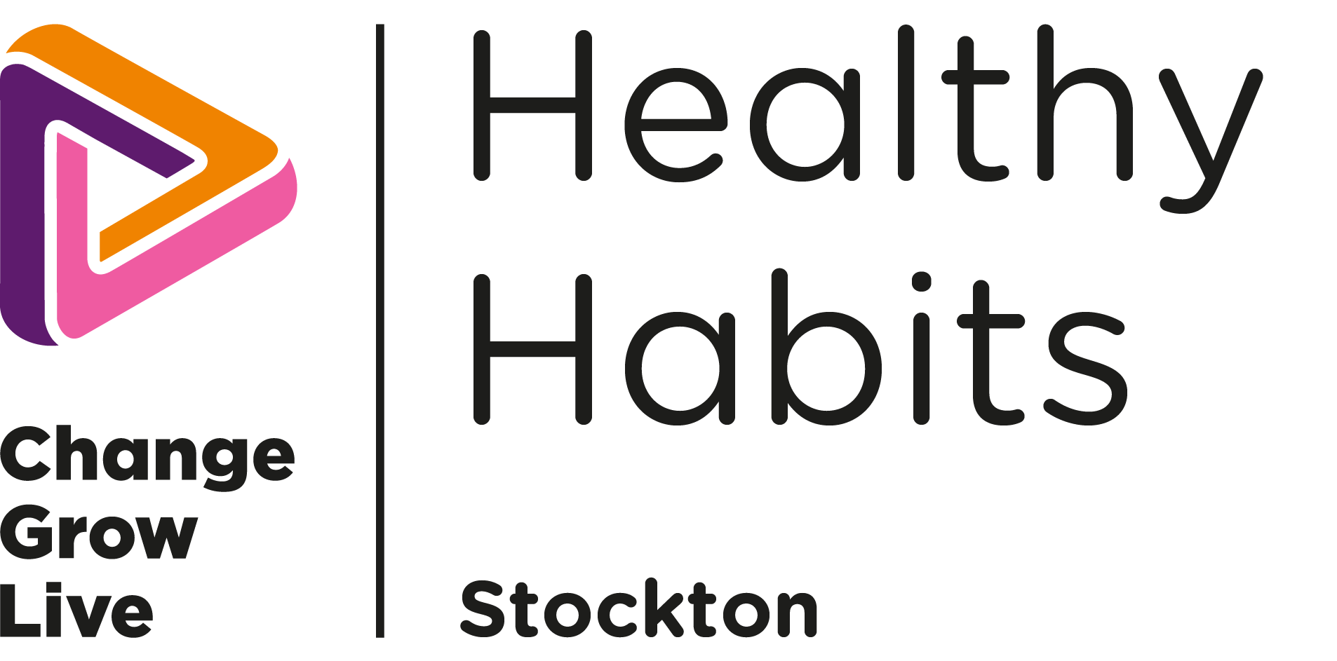 The logo for healthy habits Stockton in colour