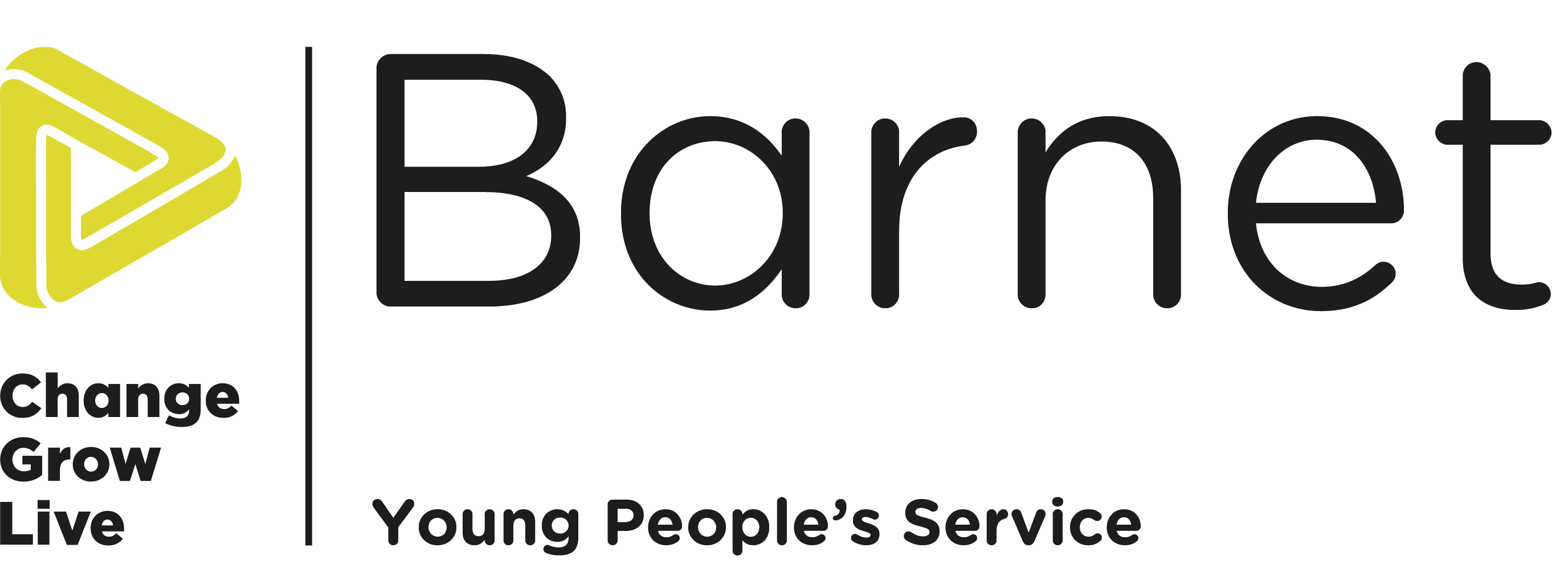 The Barnet young people's service logo in colour