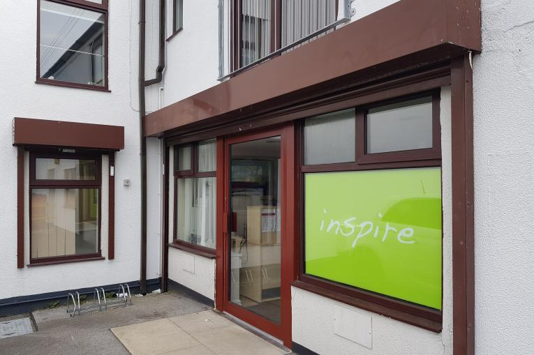 The front door of the Inspire Chorley service