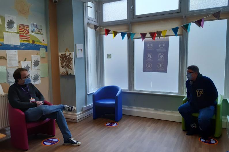 The waiting area of reception in the STARS Southend service
