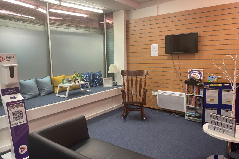 The positive choices waiting room
